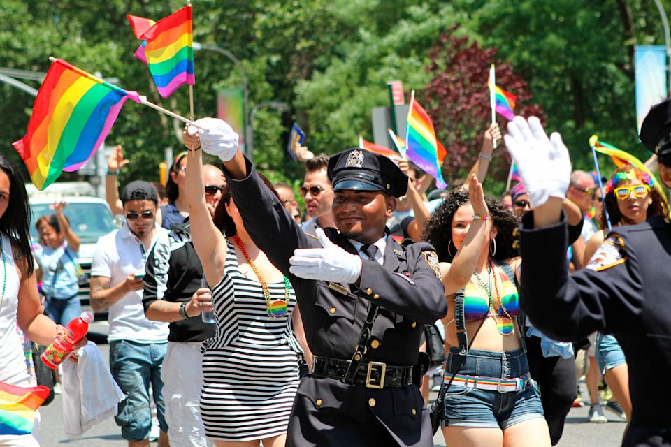 NYC Gay Pride Parade Police (Copyright 2021 The Associated Press. All rights reserved.)