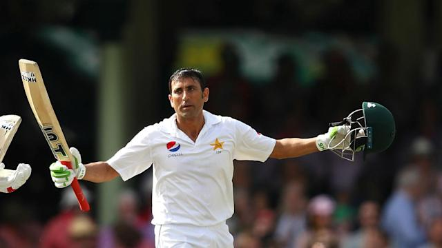 Younis Khan became the first Pakistan player to score 10,000 Test runs on Sunday as he led a first-innings response against West Indies.