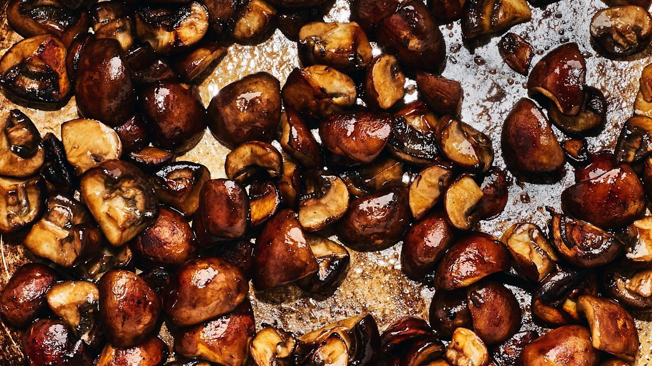 """If you """"don't like"""" mushrooms, it's probably because you think they're limp, squishy, spongy, and/or bland. It doesn't need to be that way. By using a hot pan and more fat than seems necessary, you can give them a good sear, drive off the water (mushrooms are 80–90 percent H2O), concentrate flavor, and get lots of crispy bits. <strong>Our entry-level, hater-converting method goes like this</strong>: Preheat a big heavy pan, add glugs of oil (mushrooms will absorb a little drizzle in no time) and, when it's hot, the torn or sliced mushrooms in a single layer. This maximizes pan-to-'shroom contact. Let them cook—undisturbed!—until golden brown (not gray), then season with salt and cook until the mushrooms are deep brown and shrunken. At this point it's never a bad idea to add a pat of butter and a sprig of thyme or rosemary."""