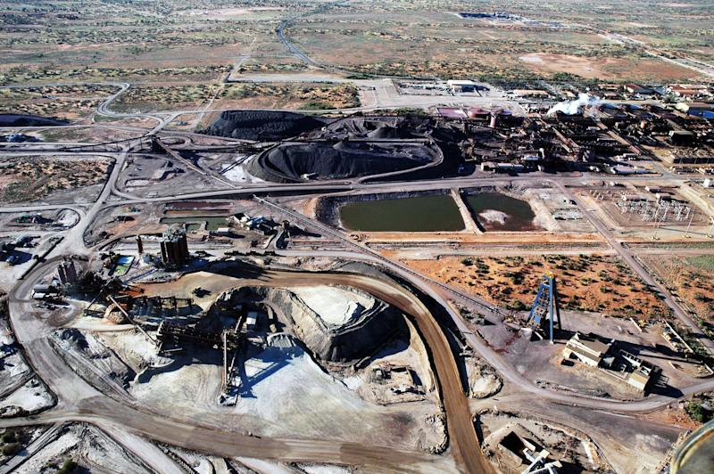 File photo of the BHP Billiton Olympic Dam copper and uranium mine in South Australia