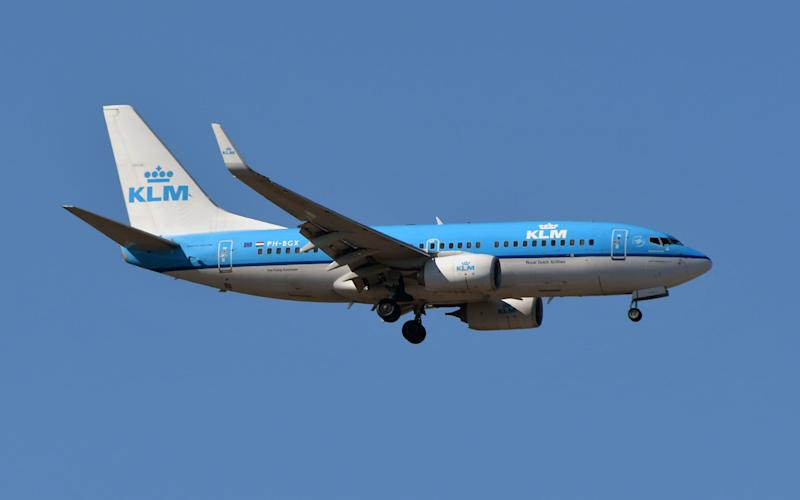 KLM is investigating an email which suggested it would act on complaints from passengers about a same sex couple being on board  - AFP