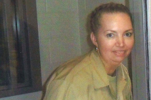 Lisa Montgomery, a federal prison inmate scheduled for execution on Jan. 12, 2021, poses at the Federal Medical Center Fort Worth in an undated photograph, courtesy of her lawyers.