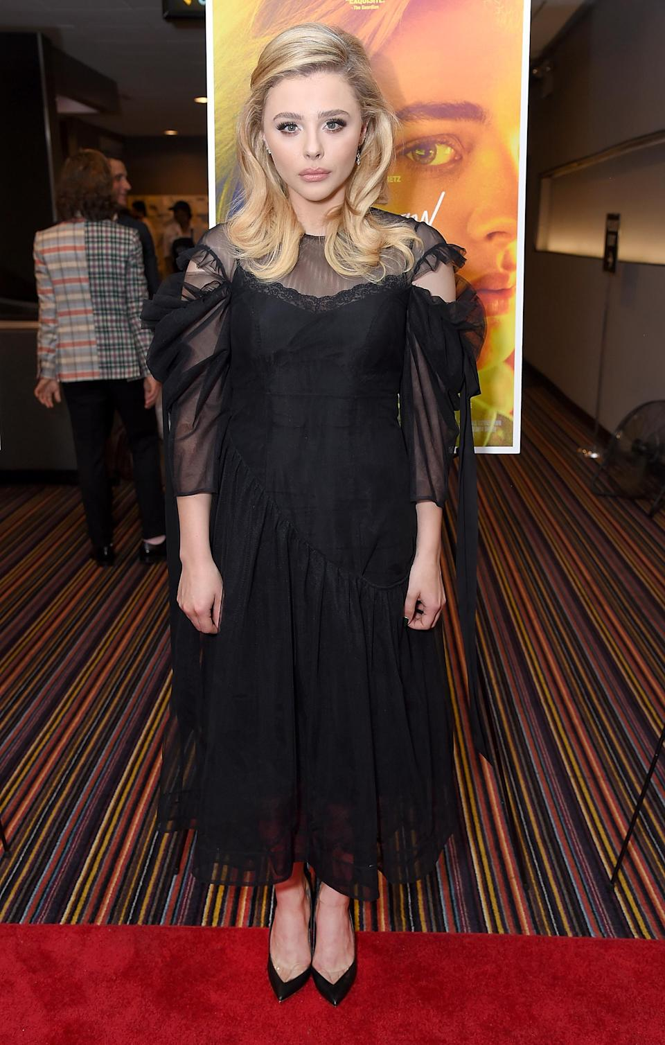<p>Another British designer was given a shout out by Hollywood this month, when Chloe Grace Moretz wore a Simone Rocha dress to a showing of her new film. <em>[Photo: Getty]</em> </p>