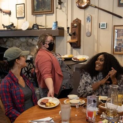 Cracker Barrel Care It Forward Program Artist and Songwriter Brittney Spencer surprised some of her fans at a Cracker Barrel in Nashville, Tenn. on Tuesday, Aug. 17, 2021, with a free meal to demonstrate there's no act of kindness too big or too small to show care. Learn more at crackerbarrel.com/careitforward.