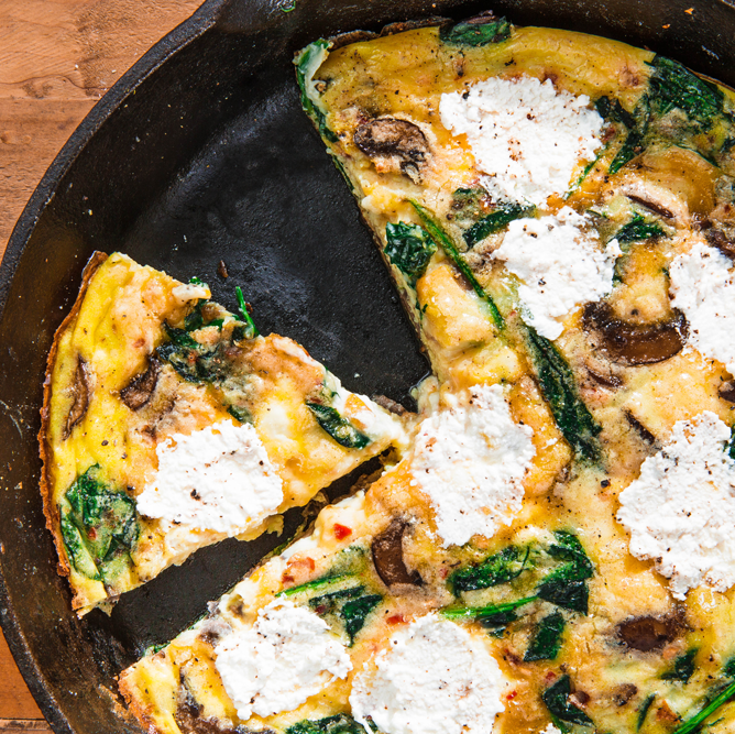 """<p>Need a crowd-pleaser quick? Frittata's got your back. Follow this guide to ensure you nail a fluffy-centered, crispy-edged frittata each and every time.</p><p>Get the recipe from <a href=""""https://www.delish.com/cooking/recipe-ideas/a24229816/frittata-recipe/"""" rel=""""nofollow noopener"""" target=""""_blank"""" data-ylk=""""slk:Delish"""" class=""""link rapid-noclick-resp"""">Delish</a>.</p>"""