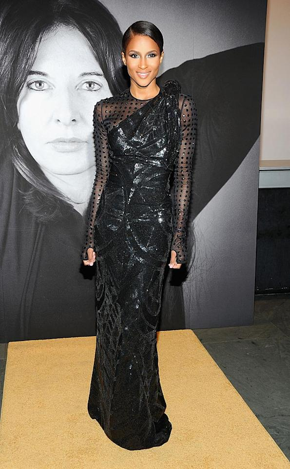 """Speaking of smoking hot, Ciara was just that at an art exhibition in New York the other evening. The R&B star opted for a futuristic Givency gown that looks like it belongs in Lady Gaga's closet. Jamie McCarthy/<a href=""""http://www.wireimage.com"""" target=""""new"""">WireImage.com</a> - June 1, 2010"""