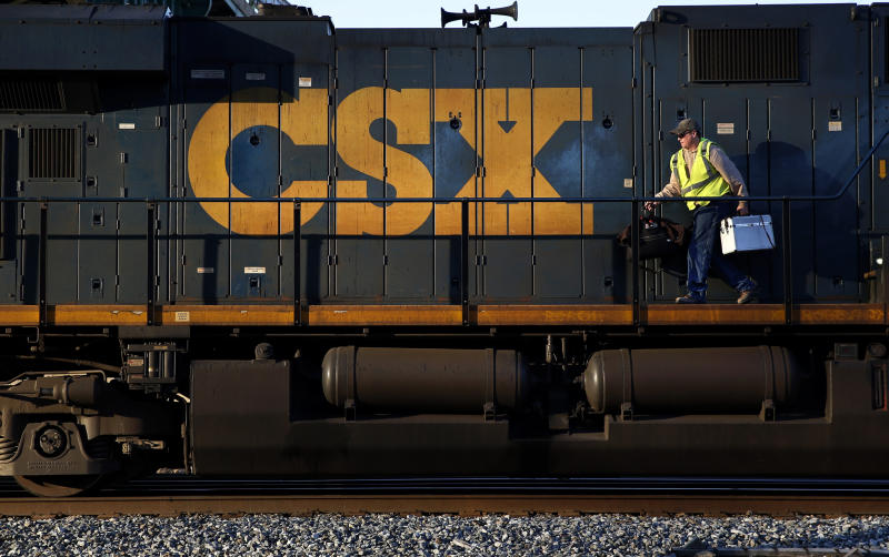 CSX railroad expects modest 2014 profit growth