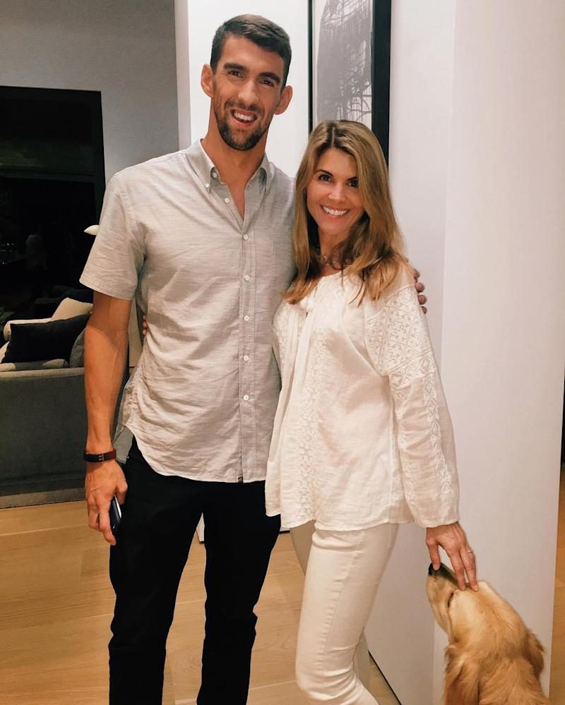 Mosimo: Michael Phelps Was A Surprise Guest At Lori Loughlin's House