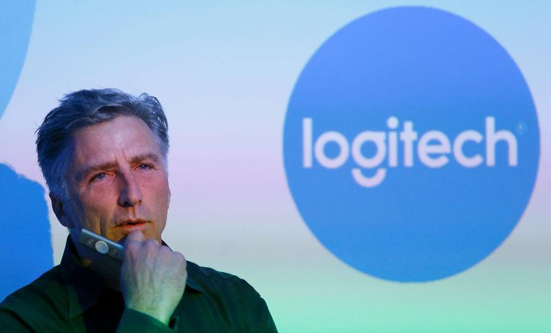 FILE PHOTO: Chief Executive Darrell of the computer peripherals maker Logitech addresses news conference in Zurich