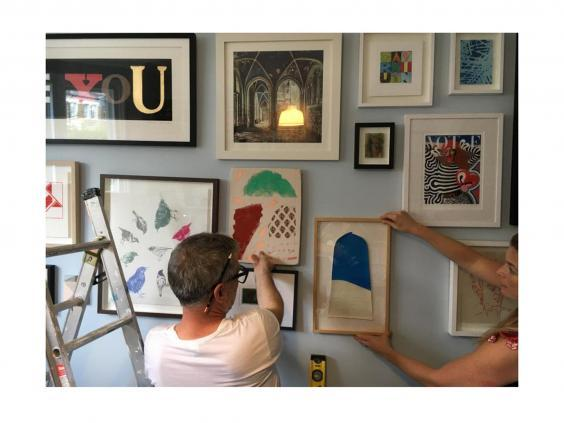 Kate Bryan's gallery wall in planning