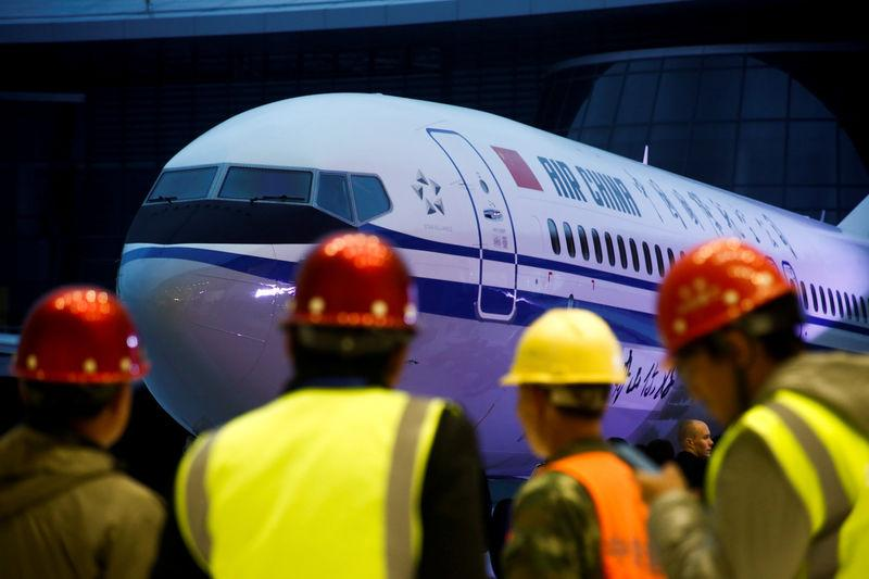 Ceremony marking 1st delivery of Boeing 737 Max 8 airplane to Air China in Zhoushan