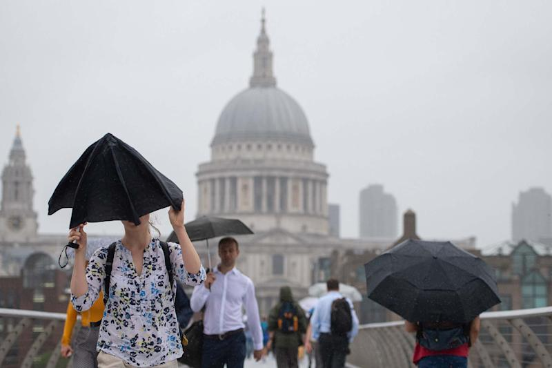 A yellow weather warning has been issud for London (PA)