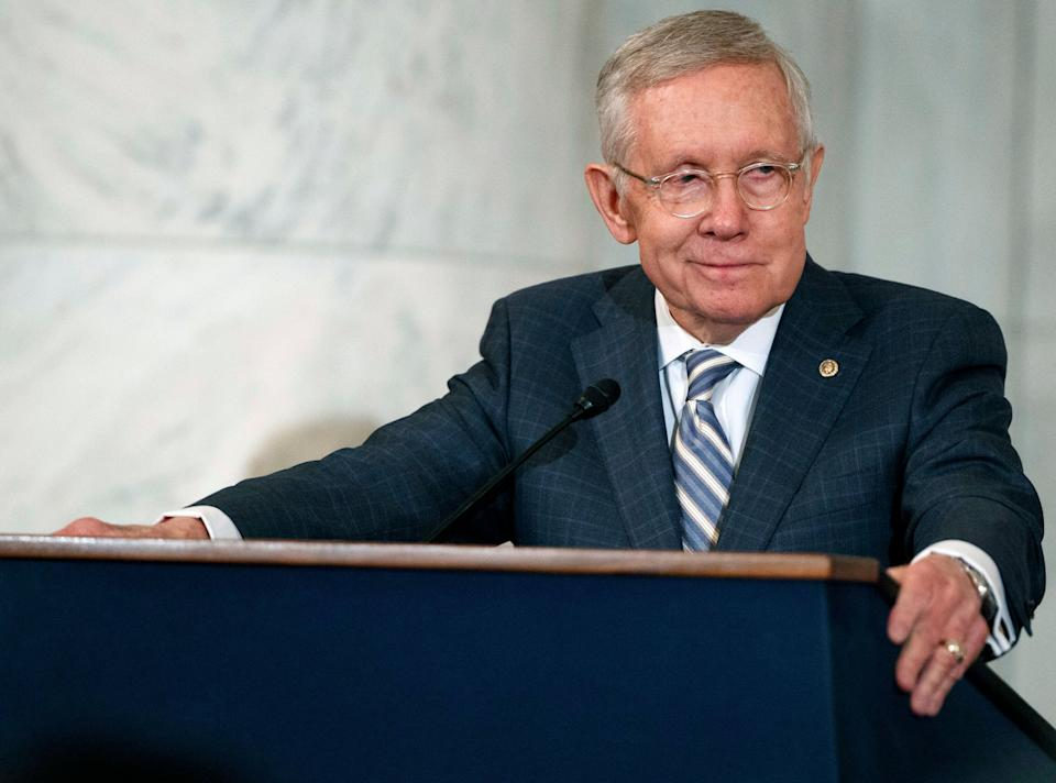 Former Senate Majority Leader Harry Reid (D-Nev.), pictured here in 2016, told HuffPost thatDemocrats should eventually move to end the filibuster. (Photo: AP Photo/Evan Vucci, File)