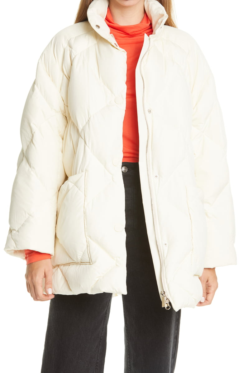 "<h2>Quilted Outerwear</h2><br><br>""Quilting is an important trend in outerwear and will continue momentum even into 2021. There are so many ways to wear the trend — from classic and heritage to pop color and print.""<br><br>-Kate Bellman, Women's Fashion Managing Editor at Nordstrom <br><br><strong>Rodebjer</strong> Agita Quilted Coat, $, available at <a href=""https://go.skimresources.com/?id=30283X879131&url=https%3A%2F%2Fwww.nordstrom.com%2Fs%2Frodebjer-agita-quilted-coat%2F5685118%3Forigin%3Dcategory-personalizedsort%26breadcrumb%3DHome%252FWomen%252FClothing%252FCoats%2520%2526%2520Jackets%26color%3D1014%2520chalk%2520white"" rel=""nofollow noopener"" target=""_blank"" data-ylk=""slk:Nordstrom"" class=""link rapid-noclick-resp"">Nordstrom</a>"