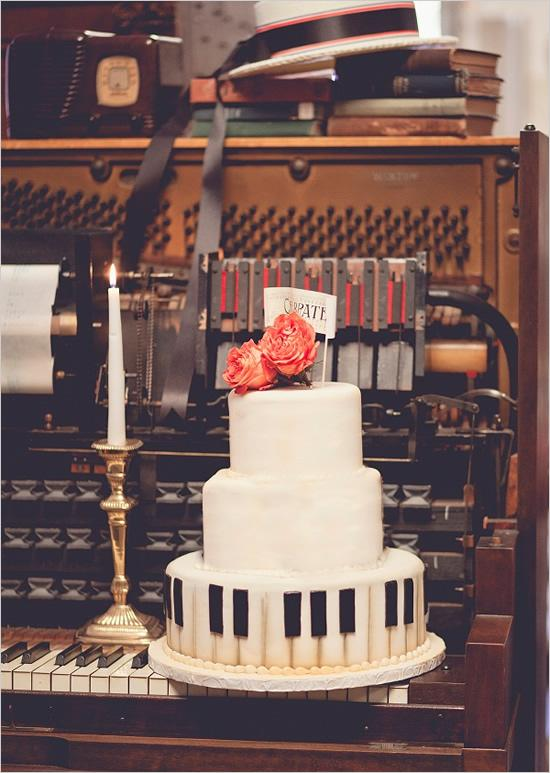 "<div class=""caption-credit""> Photo by: N Barrett Photography</div><div class=""caption-title""></div>Everyone loves wedding cake, and we love how this couple chose to showcase their love of the piano with both the cake and the display. <br> <a rel=""nofollow"" href=""http:///explore/food+%26+drink?utm_source=shine09-13-2013music&utm_medium=guest&utm_campaign=shine09-13-2013music"" target="""">See more amazing wedding cakes</a> <br> Photo by: <a rel=""nofollow"" href=""http://r.lover.ly/redir.php/NiyPVCwinB6_aHR0cDovL25iYXJyZXR0cGhvdG9ncmFwaHkuY29tLw=="" target=""_blank"">N Barrett Photography</a> on <a rel=""nofollow"" href=""http://r.lover.ly/redir.php/oXDlCbzRw8o_aHR0cDovL3d3dy53ZWRkaW5nY2hpY2tzLmNvbS8yMDEyLzA2LzI3L3ZpbnRhZ2UtbXVzaWNhbC13ZWRkaW5nLWlkZWFzLw=="" target=""_blank"">Wedding Chicks</a> via <a rel=""nofollow"" href=""http://lover.ly/image/155531"" target=""_blank"">Lover.ly</a> <br>"