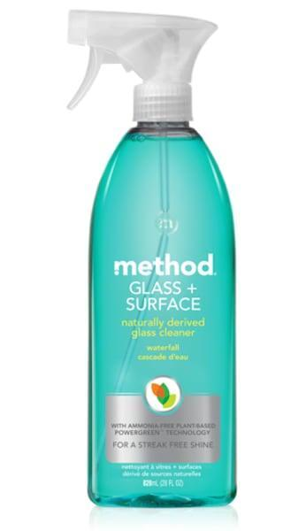 <p>Eliminate handprints, dust, dirt, and more using the <span>Method Glass and Surface Cleaner</span> ($4, originally $5). </p>