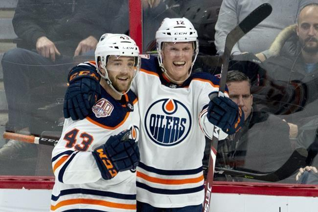 Oilers forward Colby Cave in medically-induced coma after suffering brain bleed