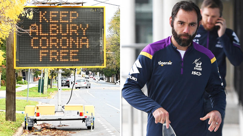 Cameron Smith, pictured here in Albury where the Mebourne Storm will train. Image: Getty