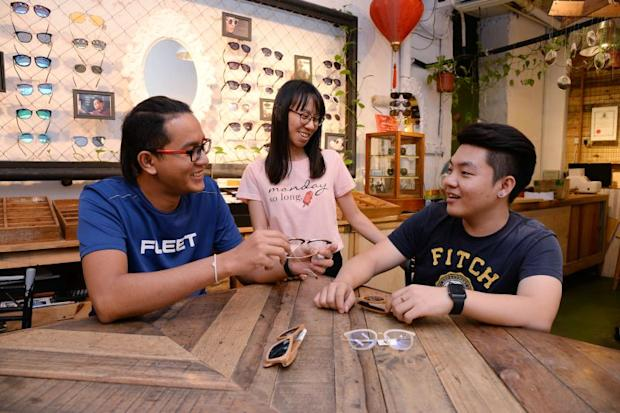 (From left) College student Sharvin Sangkaran, sales assistant Tan Wei Jun and 23-year-old sales coordinator, Choo Chin Jet.