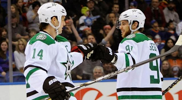 "The <a class=""link rapid-noclick-resp"" href=""/nhl/teams/dal/"" data-ylk=""slk:Dallas Stars"">Dallas Stars</a> should return as challengers for the Western Conference after an impressive summer. (AP Photo/Kathy Kmonicek)"