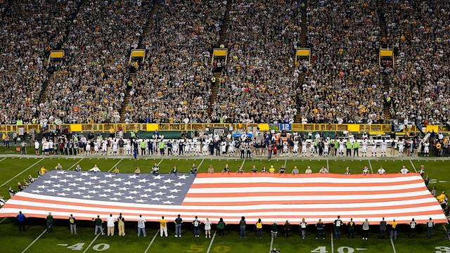 America's professional sports leagues vary in their guidelines for conduct and behavior during the playing of the national anthem.