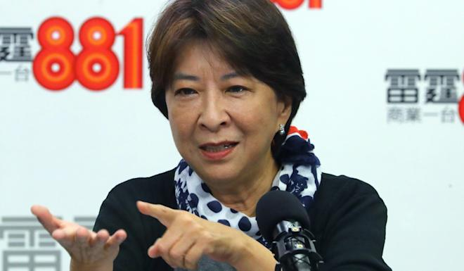 Lawmaker Ann Chiang on a radio show. Photo: Edmond So