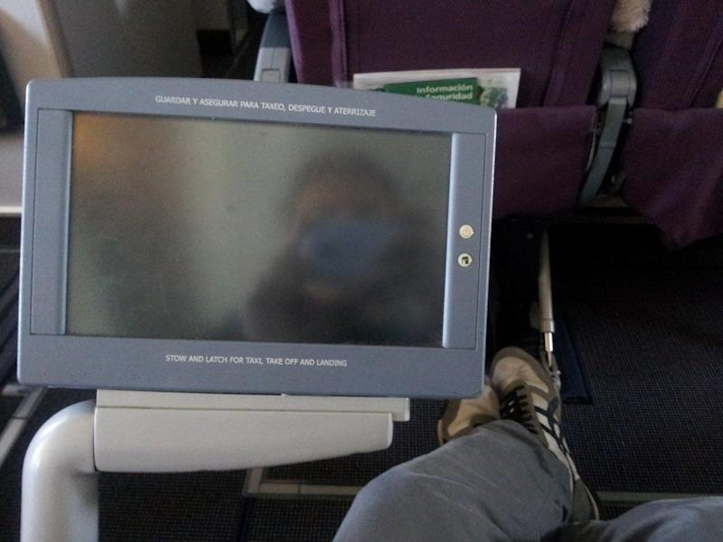 My seat had a pull-out video screen that had all sorts of features which I will explain.