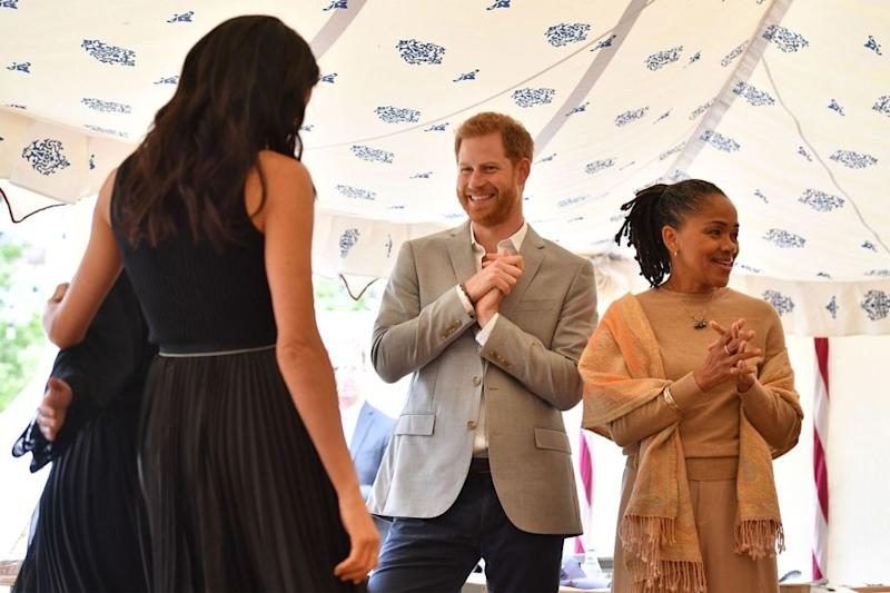 Meghan Markle, Prince Harry and Doria Ragland