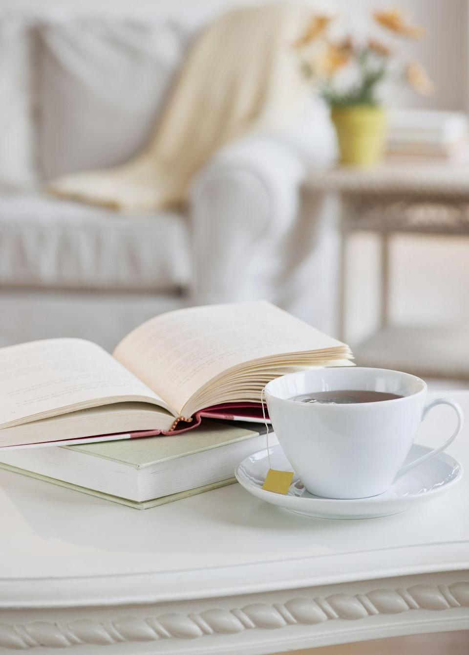 """<p>Curl up with a cup of tea and one of the <a href=""""https://www.oprahmag.com/entertainment/books/g31225657/best-books-march-2020/"""" rel=""""nofollow noopener"""" target=""""_blank"""" data-ylk=""""slk:best new books"""" class=""""link rapid-noclick-resp"""">best new books</a>. And, if you're craving company, encourage your book club to take things online and use <a href=""""https://www.oprahmag.com/entertainment/a31047508/book-club-questions/"""" rel=""""nofollow noopener"""" target=""""_blank"""" data-ylk=""""slk:these questions"""" class=""""link rapid-noclick-resp"""">these questions</a> as a guide to spark conversation. Apps like <a href=""""https://zoom.us/ent?zcid=2582"""" rel=""""nofollow noopener"""" target=""""_blank"""" data-ylk=""""slk:Zoom"""" class=""""link rapid-noclick-resp"""">Zoom</a> make it easy to turn your typical wine and cheese gathering into a digital experience with your friends. If you're a Tolstoy fan, you can also join <a href=""""https://apublicspace.org/news/detail/tolstoy-together"""" rel=""""nofollow noopener"""" target=""""_blank"""" data-ylk=""""slk:this community"""" class=""""link rapid-noclick-resp"""">this community</a> where folks are reading 12 pages a day of <em>War and Peace</em> and discussing it on the web.</p>"""