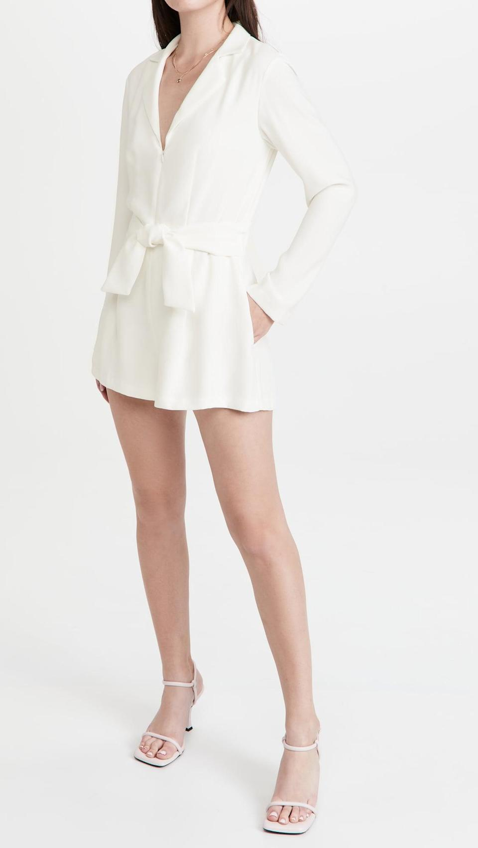 <p>This sleek <span>Amanda Uprichard Mayla Romper</span> ($242) is fun, and perfect for a summer night out. I love it with strappy sandals.</p>