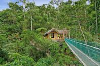"""<p>Head to <a href=""""http://www.pacuarelodge.com/"""" rel=""""nofollow noopener"""" target=""""_blank"""" data-ylk=""""slk:Pacuare Lodge"""" class=""""link rapid-noclick-resp"""">Pacuare Lodge</a> for adventures in the Central American rainforest, romance, and true seclusion. When we say this place will get you far off the beaten path, we aren't kidding: It's only accessible by raft or cable car. It's eco-friendly and sustainable in every way imaginable. You can lay low and recharge under the canopy of trees and spend your time at the spa with specialized, locally-inspired treatments, or you can get your adrenaline pumping with rainforest adventures like white water rafting and zip-lining.</p><p><a class=""""link rapid-noclick-resp"""" href=""""https://go.redirectingat.com/?id=74968X1525080&xs=1&url=https%3A%2F%2Fwww.tripadvisor.com%2FHotel_Review-g9771272-d669920-Reviews-Pacuare_Lodge-Pacuare_River_Province_of_Limon.html&sref=https%3A%2F%2Fwww.housebeautiful.com%2Flifestyle%2Fg25781535%2Fnature-travel-hotels%2F"""" rel=""""nofollow noopener"""" target=""""_blank"""" data-ylk=""""slk:BOOK NOW"""">BOOK NOW</a> <strong><em>Pacuare Lodge </em></strong></p>"""