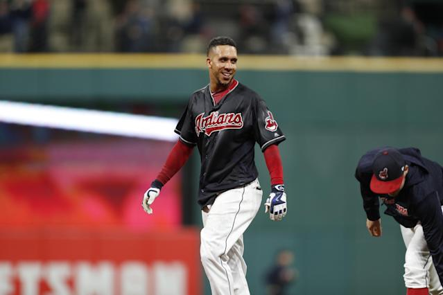 The 31-year-old Michael Brantley resurrected his career in 2017 after missing nearly all of the previous season with a shoulder injury and followed up with a second consecutive All-Star Game appearance. (Getty Images)