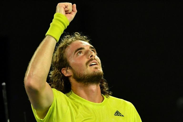 Greece's Stefanos Tsitsipas (pictured) who once called Daniil Medvedev boring, will face him for a place in the Australian Open final on Friday
