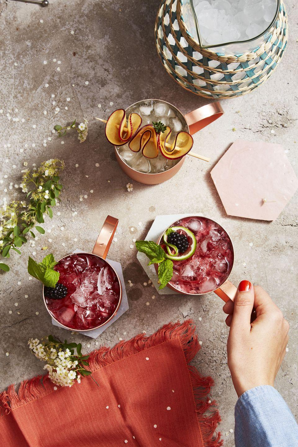 <p>That's right, your favorite drink just got better. Stir together vodka, lime juice, sliced plums and sprigs of fresh thyme in a pitcher. Gently stir in ginger beer before serving over ice. Remember to garnish with more plums and thyme. Cheers! </p>