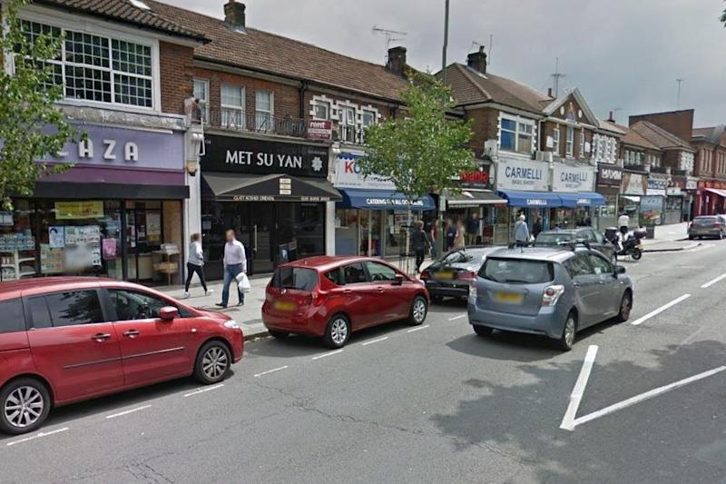 North London: Golders Green Road, where a Jewish man was allegedly given the Nazi salute. (Google)