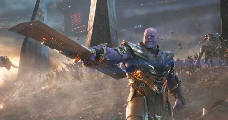 Thanos faces off against the Avengers (credit: Marvel Studios)