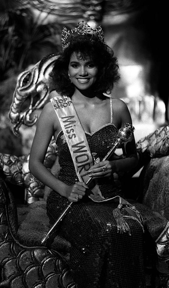 "<p>As Halle pointed out on her <a href=""https://www.instagram.com/p/BQnzjuhA5Z1/"">Instagram</a>, the Miss World competition of 1986 is where it all began. The Cleveland, Ohio, native won Miss Ohio that same year and was first runner-up at Miss USA. She placed sixth at Miss World at the age of 20. The sequins and high hair are definitely a good look for her.</p>"