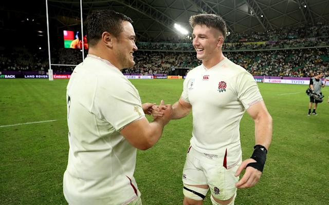 England celebrate reaching the Rugby World Cup 2019 semi-final - Getty Images AsiaPac