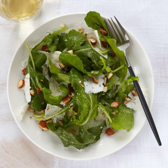"""<p>For this crunchy, nutty salad, Lidia Bastianich likes to use dandelion greens, which aren't always easy to find. Instead, arugula stands in for the elusive dandelion greens.</p><p><a href=""""https://www.foodandwine.com/recipes/arugula-salad-with-ricotta-salata"""">GO TO RECIPE</a></p>"""