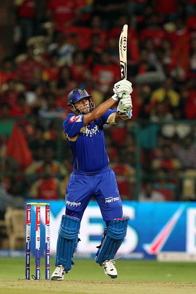 Rahul Dravid during match 27 of the Pepsi Indian Premier League between The Royal Challengers Bangalore and The Rajasthan Royals held at the M. Chinnaswamy Stadium, Bengaluru  on the 20th April 2013Photo by Prashant Bhoot-IPL-SPORTZPICS    Use of this image is subject to the terms and conditions as outlined by the BCCI. These terms can be found by following this link:https://ec.yimg.com/ec?url=http%3a%2f%2fwww.sportzpics.co.za%2fimage%2fI0000SoRagM2cIEc&t=1506061823&sig=yZFAchtpUvuwr11NNJ9W1Q--~D