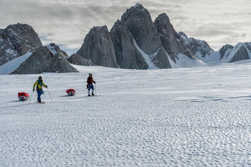 Ascent: The four spiked tips of Spectre mountain pierce the snowy landscape of Antarctica. (SWNS)