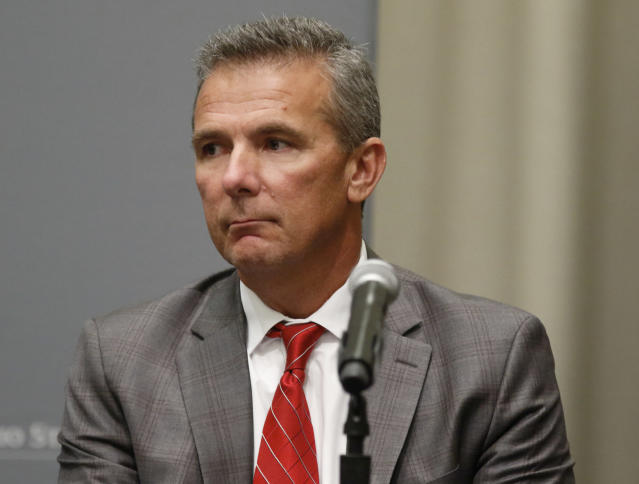 Urban Meyer got hefty applause entering Ohio Stadium. (AP Photo/Paul Vernon, File)