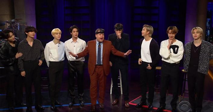 Ready, steady, go...: BTS prepare to hide (Late Late Show )