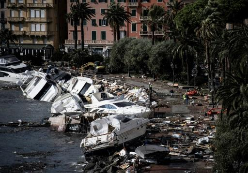 The Genoa region alone had suffered tens of millions of euros' worth of damage -- a price tag that could rise to hundreds of millions in the long term