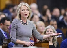 Conservative MP Candice Bergen stands in the House of Commons