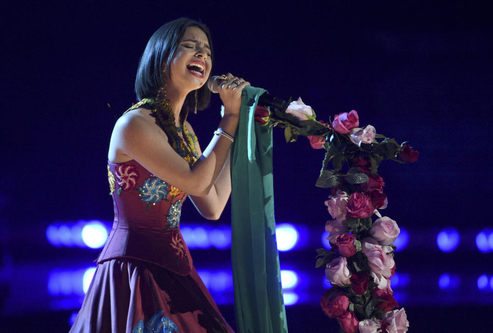 Angela Aguilar. (Photo by Chris Pizzello/Invision/AP)