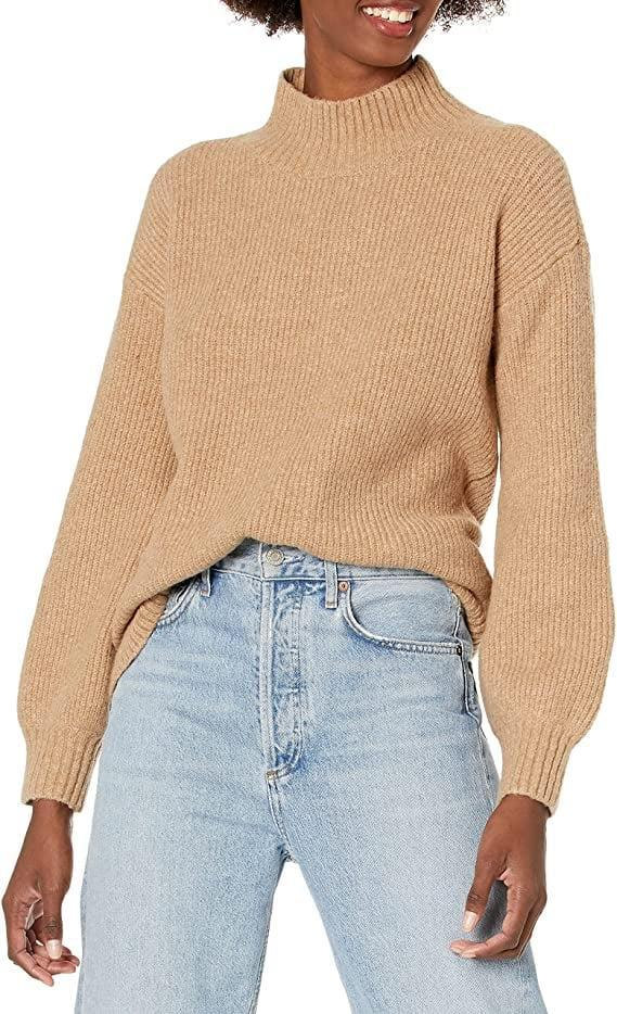 <p>Choose between 12 different colors of the <span>Goodthreads Women's Boucle Shaker Stitch Balloon-Sleeve Sweater</span> ($36-$41). It's sure to be a seasonal staple!</p>
