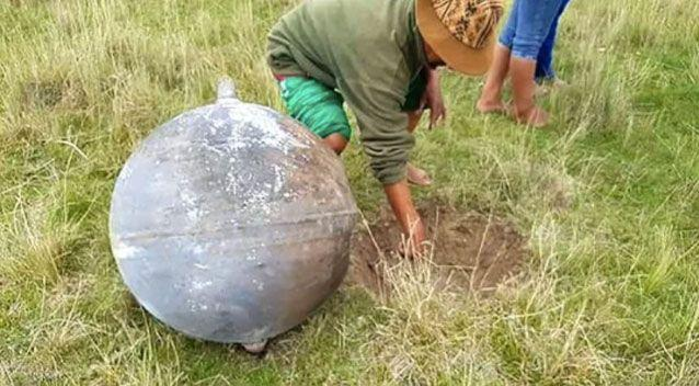 The Peruvian air force has since dispelled rumours it was a meteorite. Source: Fuerza Aerea Del Peru