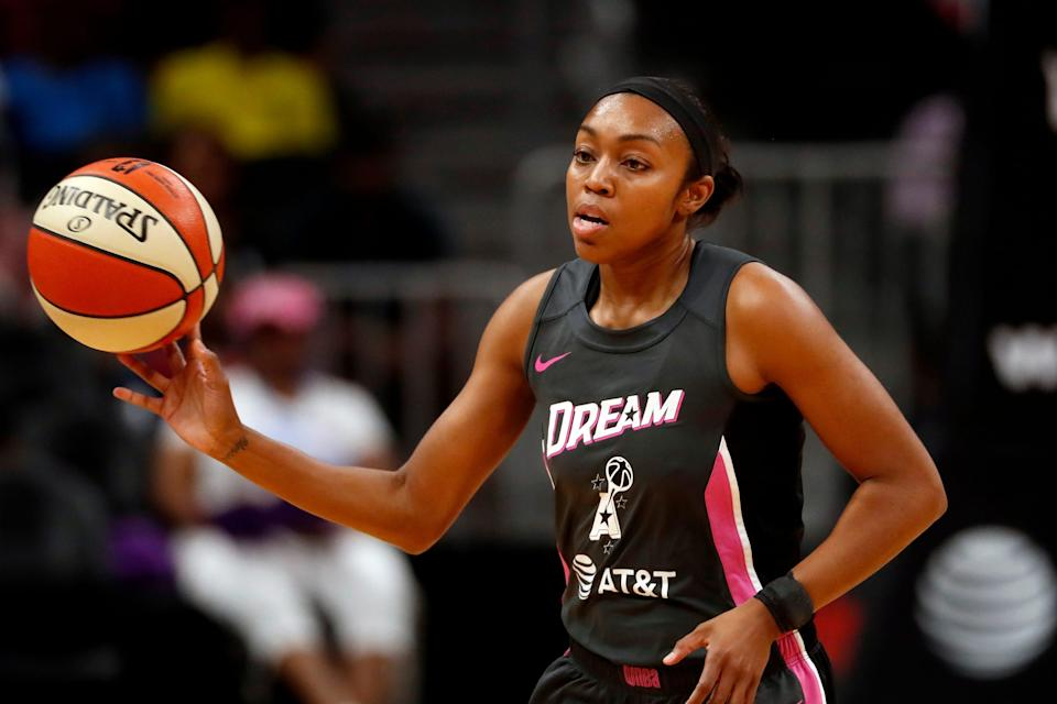 Former Dream guard Renee Montgomery was part of a group that purchased the team earlier this year and hired a new broadcast crew.