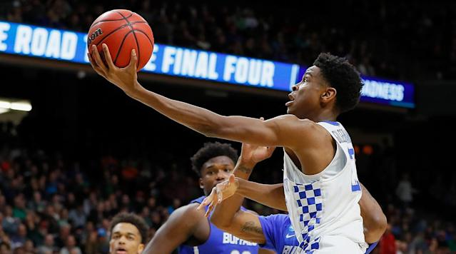 <p>BOISE – Upsets unfolded all week in the NCAA tournament, upsets marked by nuns and dogs and fruit and the most improbable victory in men's tournament history. There was Sister Jean and her favorite team, Loyola-Chicago, beating Miami and Tennessee <em>and </em>topping the very 2018 notion of universal divisiveness because everyone loves nuns who know their basketball and everyone loves upsets.</p><p>There were the UMBC Retrievers bludgeoning top-overall seed Virginia to become the first No. 16 seed to win on the men's side of the tourney. While they hogged the headlines with Loyola, Syracuse also topped TCU and Marshall vanquished Wichita State and, even here, Buffalo ended Arizona's tumultuous season before the weekend. And yet, for all the chaos and all the drama and a March defined so far by faith and fur and another round of upsets, by the time the games ended here on Saturday, the teams left standing were two legitimate national title contenders, making Taco Bell Arena the antidote to college basketball calamity.</p><p>The two teams that will move from Boise into the tournament's second week are Kentucky and Gonzaga. No surprise there. They may be seeded lower than usual—a 5 for the Wildcats in the South, a 4 for the Zags in the West—but it's still, well, Kentucky and Gonzaga. The Wildcats have won eight national titles and their latest crop of stars on NBA layovers are rounding into typical March form. Gonzaga is playing in its 20th straight NCAA tournament and fourth straight Sweet 16, and it lost in the title game last season and posted another 30-plus-win season this year.</p><p>The Zags' priest may even feel a little Sister Jean envy. But he gets to do this every season. Wash, rinse, advance in the NCAA tournament. Chaos? What chaos?</p><p>Late Friday, Gonzaga's players watched UMBC bludgeon Virginia from inside their respective hotel rooms. Group chats were filled with giddy messages, laden with emojis, gifs and exclamation points. The Bulldogs were wa